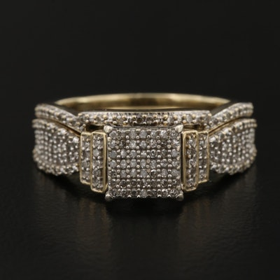 10K Diamond Ring and Shadow Band