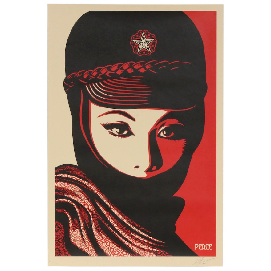 """Shepard Fairey Offset Print """"Mujer Fatale"""", 2020"""