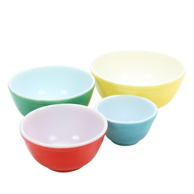 Pyrex Primary Colors Nesting Bowl Set, 1940s