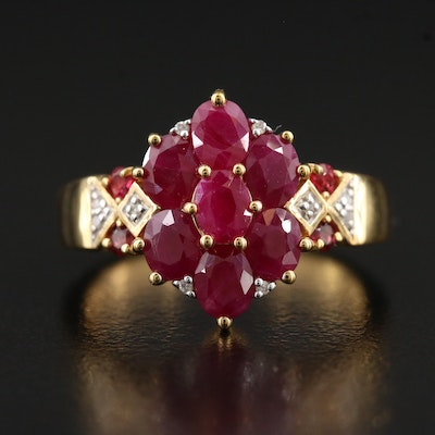 Sterling Ruby, Diamond and Spinel Ring