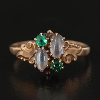 Victorian 10K Glass Ring