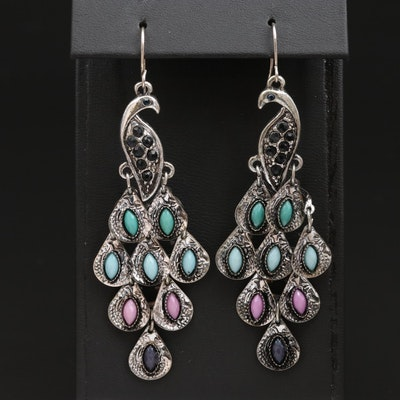 Peacock Dangle Earrings