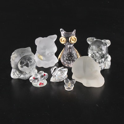 Goebel and Other Crystal and Glass Paperweights and Figurines