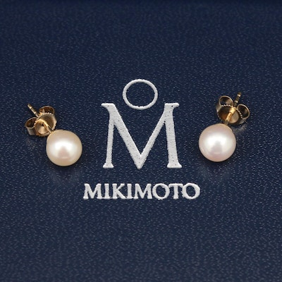 Blue Lagoon by Mikimoto 14K Pearl Stud Earrings
