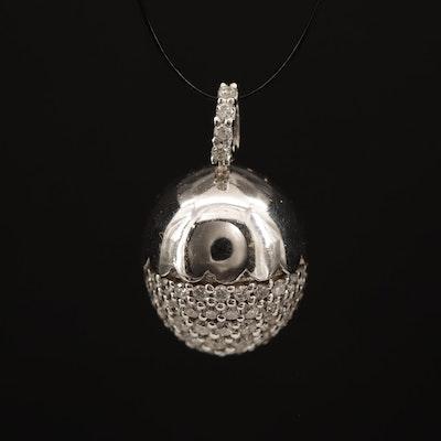 18K 1.00 CTW Diamond Acorn Pendant