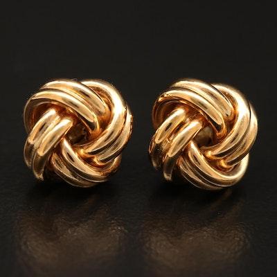 UnoAErre 18K Love Knot Stud Earrings