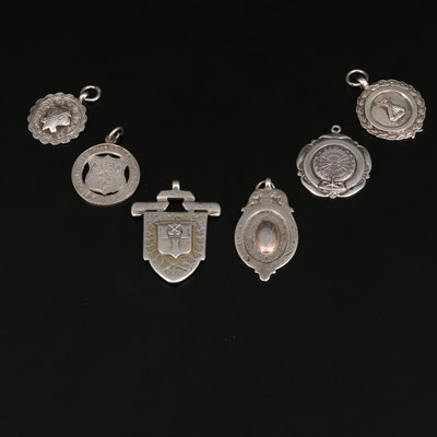Vintage Sterling Silver Fobs Featuring Fattorini & Sons