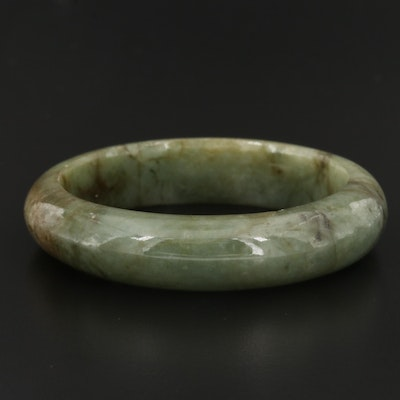 Carved Jadeite Hololith Bangle