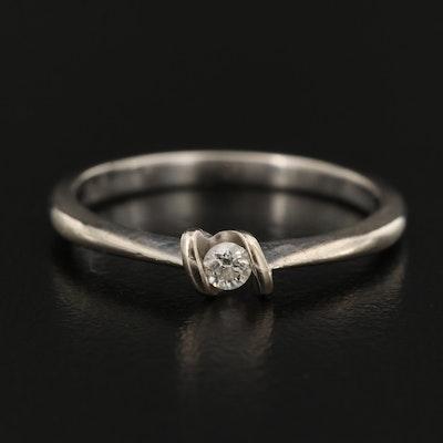 10K 0.06 CT Diamond Solitaire Ring