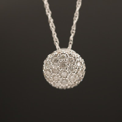 14K Diamond Pavé Pendant Necklace