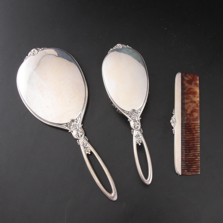 R. Blackinton Sterling Silver Vanity Grooming Set, Early 20th Century