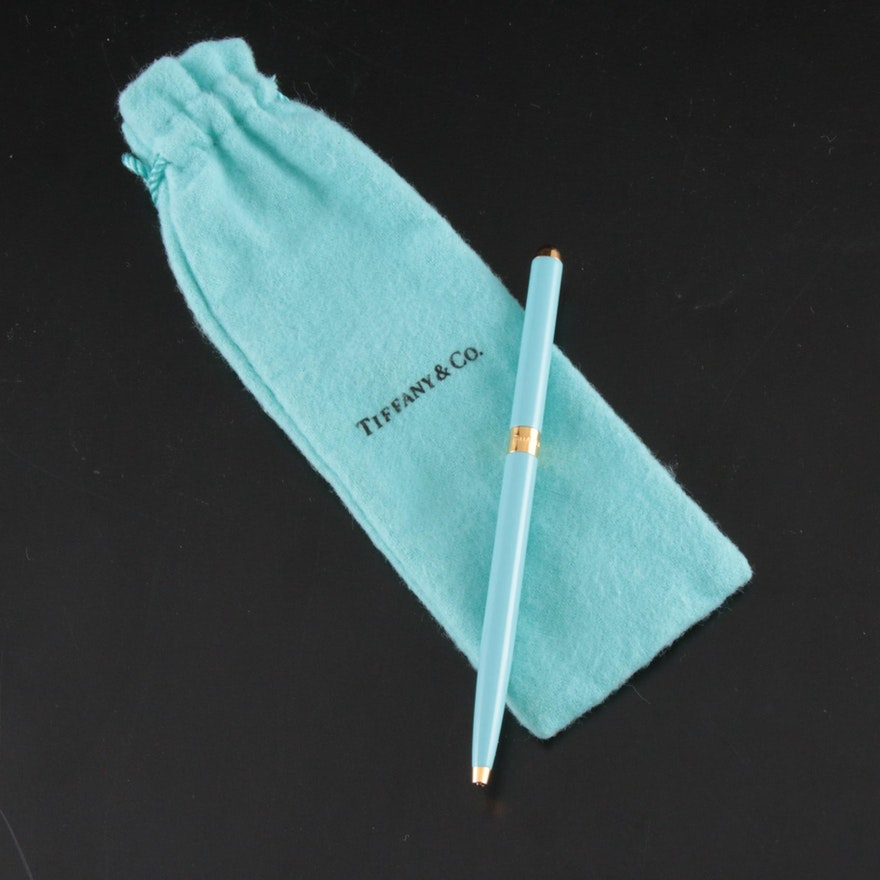 Tiffany & Co. Brass Ballpoint Pen with Tiffany Blue® Lacquer Finish
