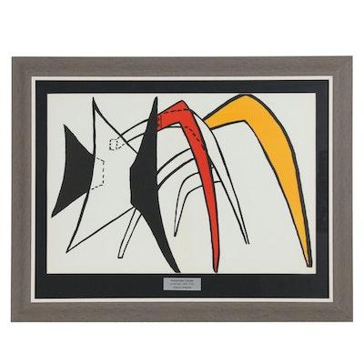 """Alexander Calder Double-Page Lithograph for """"Derrière le Miroir"""", 1963"""
