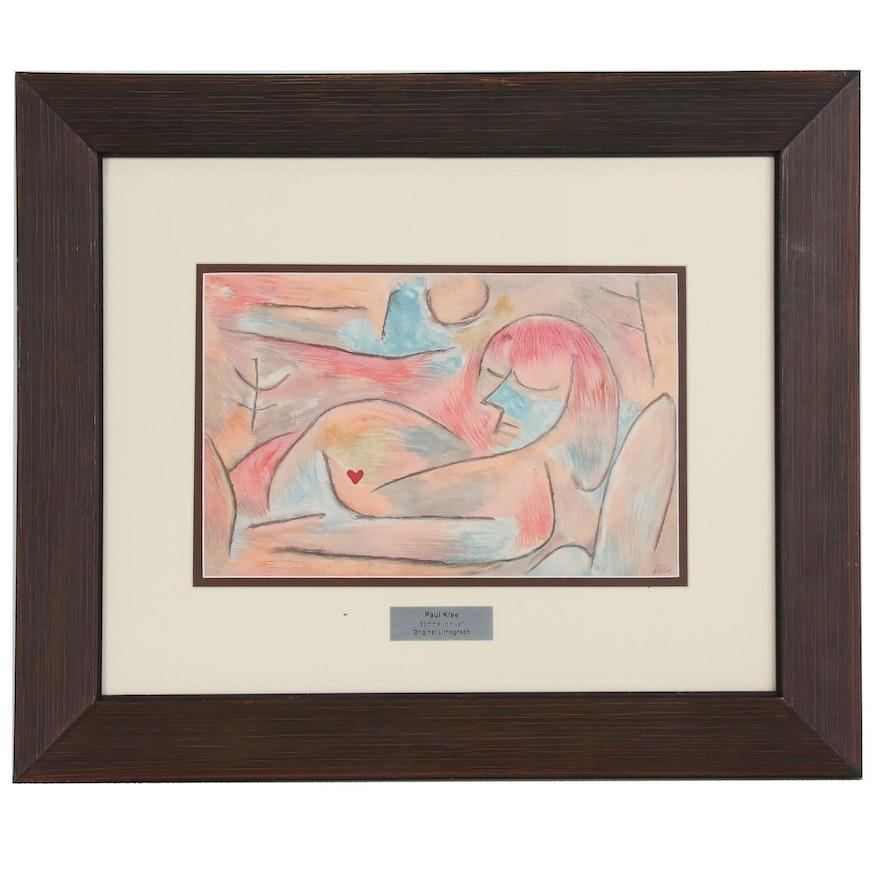 """Paul Klee Color Lithograph """"Sommeil d'Hiver"""" for """"Verve"""", 1938"""