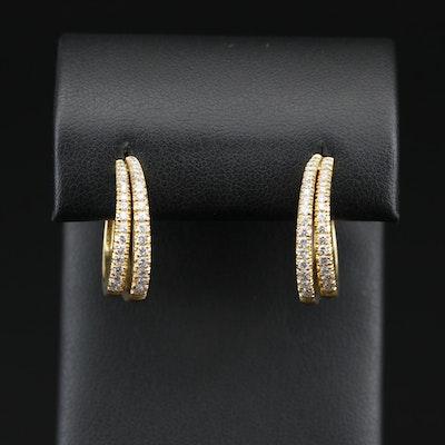 18K Diamond Hoop Earrings