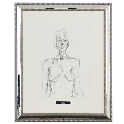 """Alberto Giacometti Figural Lithograph for """"Derrière le Miroir"""", 1961"""