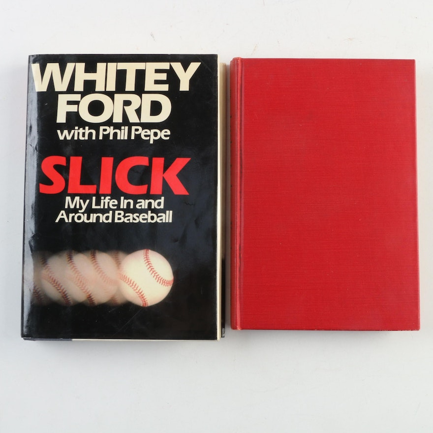 """""""Lucky To Be a Yankee"""" by Joe Di Maggio with Signed """"Slick"""" by Whitey Ford"""