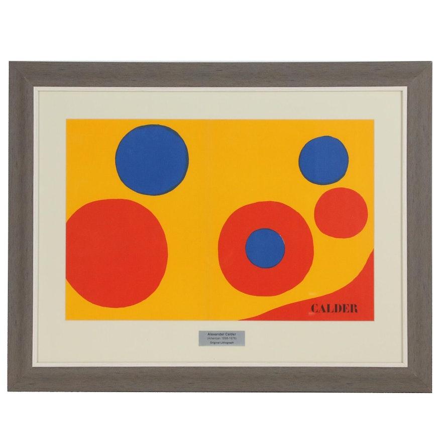 """Alexander Calder Lithograph Cover for """"Derrière le Miroir"""", 1973"""