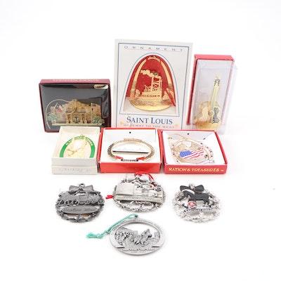 Metal Souvenir Ornaments, Late 20th Century