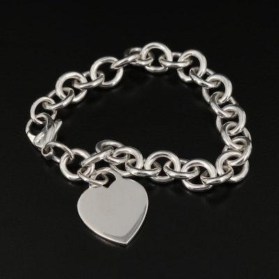 Tiffany & Co. Sterling Heart Bracelet
