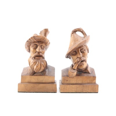 Bavarian Style Wood Handcrafted Folk Art Figures