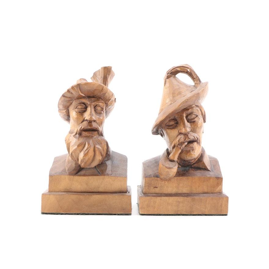 Bavarian Style Wood Handcrafted Folk Art Figures