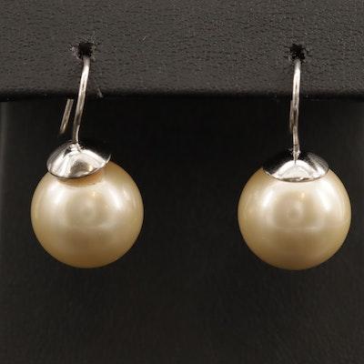 Sterling Faux Pearl Earrings