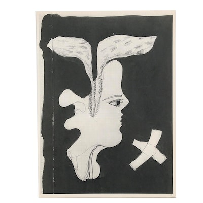 "Double-Sided Rotogravure after Georges Braque for ""Verve"", 1955"