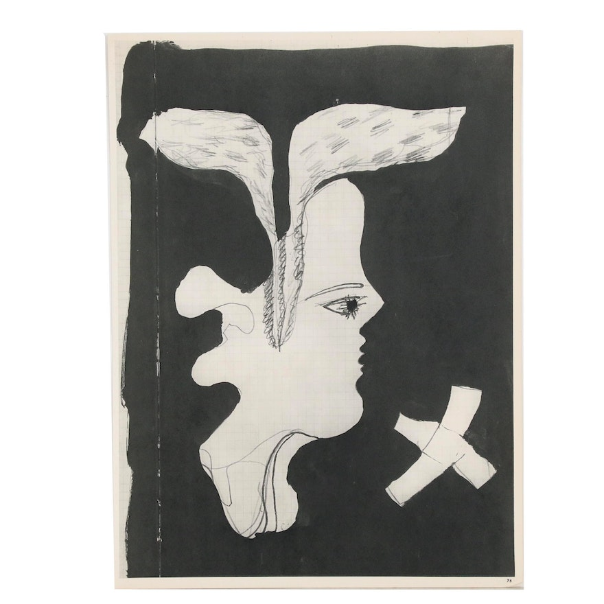 """Double-Sided Rotogravure after Georges Braque for """"Verve"""", 1955"""