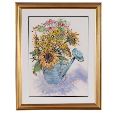 Leslie Shiels Floral Still Life Acrylic Painting