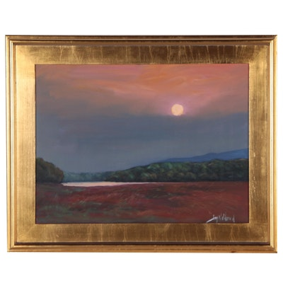 "Jay Wilford Landscape Oil Painting ""Salt Marsh Morning"""