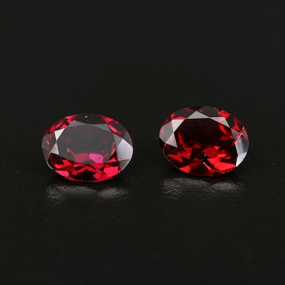 Loose 5.50 CTW Oval Faceted Garnet