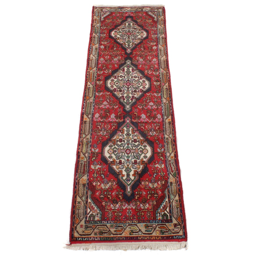2'8 x 9'6 Hand-Knotted Wool Runner Rug