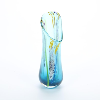 Artist Signed Art Glass Vase, 1997