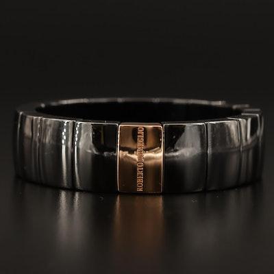 Roberto Demeglio 18K and Ceramic Expandable Bracelet