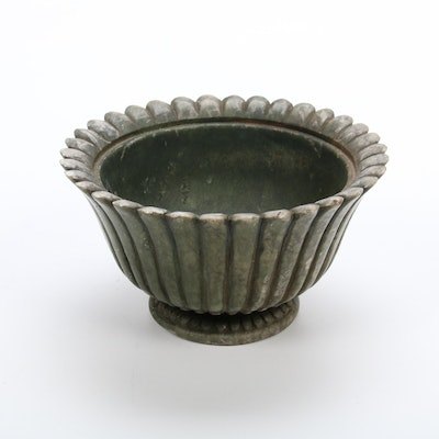 Italian Scalloped Serpentine Footed Bowl