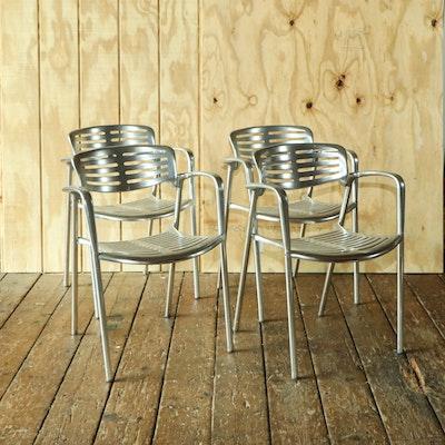 """Jorge Pensi for Amat-3 """"Toledo"""" Aluminum Chairs, 1980s"""