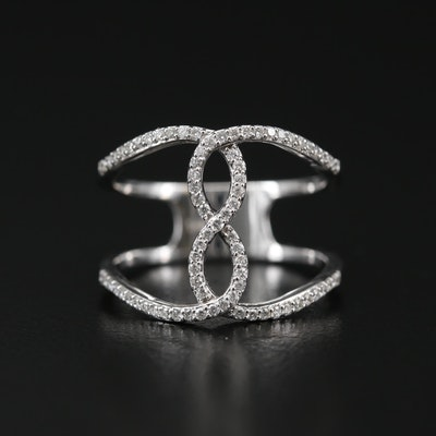 14K Diamond Ring with Infinity Design
