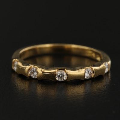 18K Diamond Five Stone Band