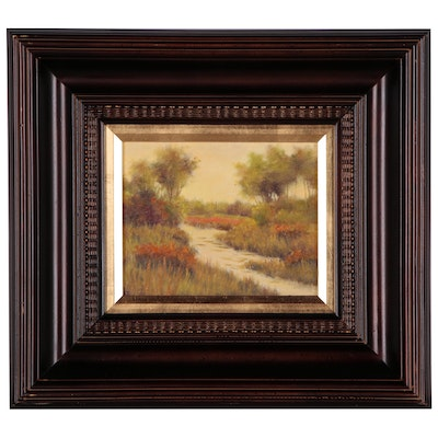 Spring Landscape with Stream Oil Painting, 21st Century