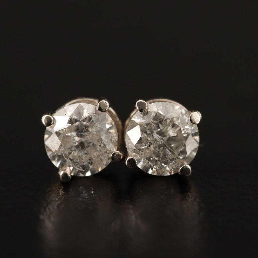 14K 1.54 CTW Diamond Stud Earrings