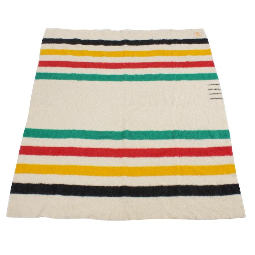 Hudson's Bay Wool Point Blanket, Mid-20th Century