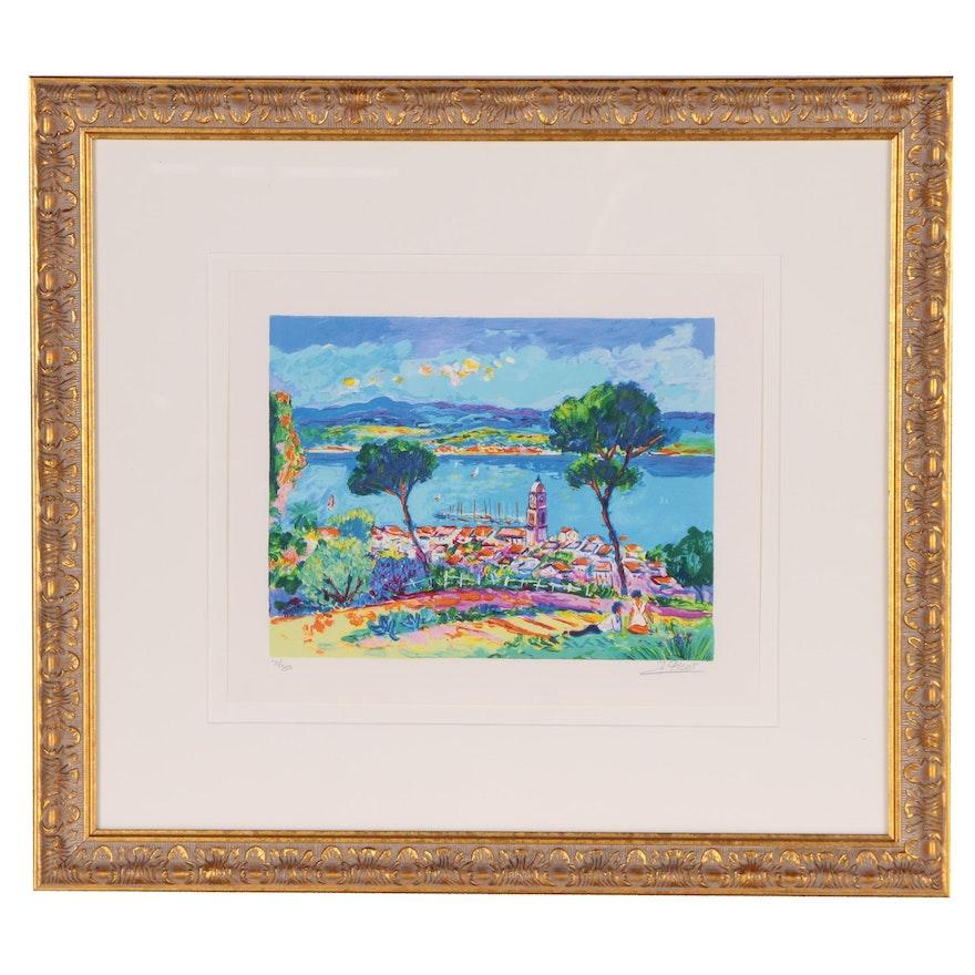 """Jean-Claude Picot Serigraph """"Amoureux a St. Tropez"""", 1997"""