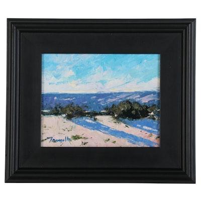 Jose Trujillo Impressionist Style Oil Painting Seascape, 21st Century