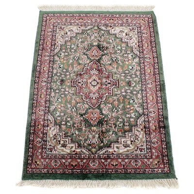 2'1 x 3'4 Hand-Knotted Turkish Art Silk Accent Rug