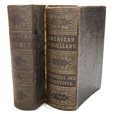 """""""Treasury of Science"""" and """"American Miscellany"""" Compendia, Mid-19th Century"""