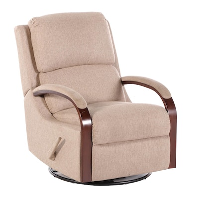 Contemporary Pillow Back Upholstered Reclining Arm Chair
