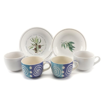 Williams Sonoma and Cooks Club Ceramic Bowls and Coffee Cups