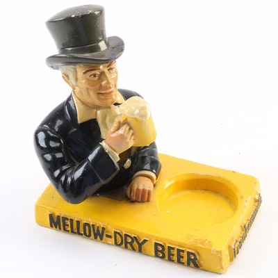 Frankenmuth Chalkware Advertisement Beer Caddy, Plasto Manufacturing Company