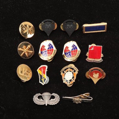 United States Military Collar Insignia and Pinbacks